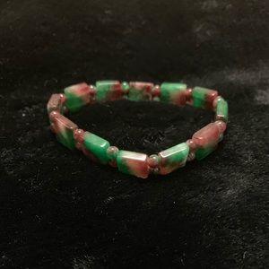 Jade marble bracelet